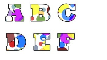 Multi-color Polka Dot Alphabet!