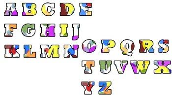 Multi-color Polka Dot Alphabet!