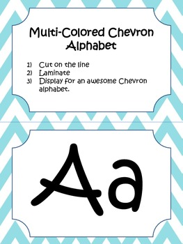 Multi-colored Chevron Alphabet
