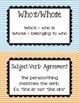 Multi-colored Chevron Grammar Guide Bulletin Board