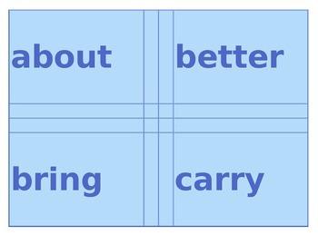 Multi-colored Grade 3 Sight Word Cards