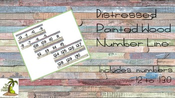 Multi-colored Painted Distressed Wood Number Line