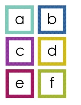 Colorful Word Wall Letters/Numbers