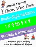 Multi-digit Addition 'I Have, Who Has?' Small Group Game