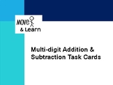 Multi-digit Addition Subtraction Task Cards