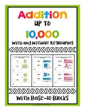 Multi-digit Addition up to 10,000 With and Without Regrouping