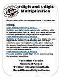 Multi-digit Multiplication Concrete Representational Abstr