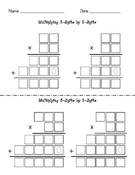 multi digit multiplication grids and guides scaffolded by lauren stump. Black Bedroom Furniture Sets. Home Design Ideas