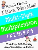 Multi-digit Multiplication 'I Have, Who Has?' Small Group Game
