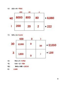 Multi-digit Multiplication Quiz - Eureka Math Alligned