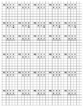 Multi-digit Multiplication (on graph paper for neatness) | TpT