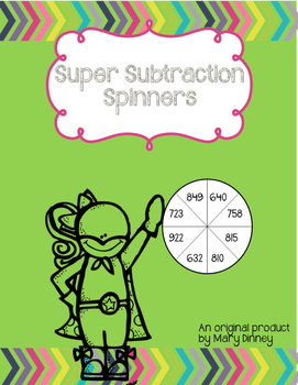 Super Subtraction Spinners (with and without regrouping)