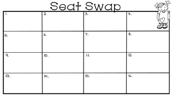 Multi-Digit Addition and Subtraction Seat Swap Math Game