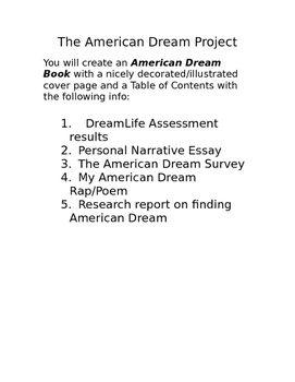 Multigenre Writing Project Teaching Resources  Teachers Pay Teachers  Multigenre Writing Project On The American Dream