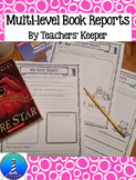 Multi-level Fiction Book Reports