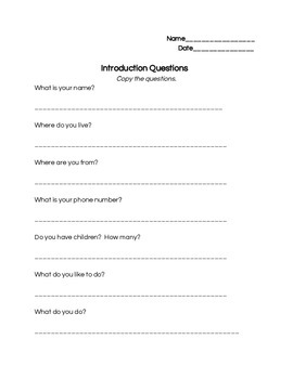 Multi-level Introduction Dialogues for Adult ESL