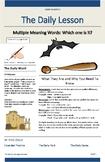Multi-meaning words worksheet