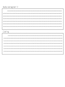 Multi-paragraph Graphic Organizer