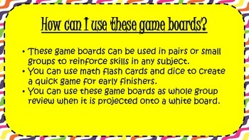 Multi-purpose Game Boards