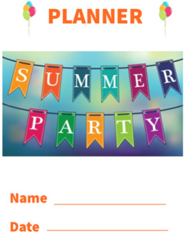 """Multi-purpose Math """"Party Planner"""" Packet"""