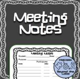 Multi-purpose Notes for parent, teacher, IEP meetings