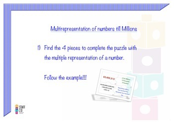 Multi representation Numbers Till Billion.Puzzle. Math Center Dual Language3-5th