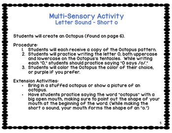 Multi-sensory Activities {based on Orton Gillingham Program}