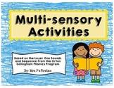 Multi-sensory Activities {based on Orton Gillingham Program}