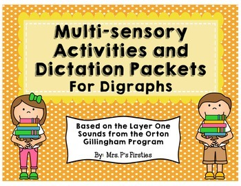 Multi-sensory Activities for Digraphs {based on Orton Gillingham Program}