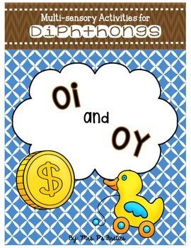 Multi-sensory Activities for Diphthongs - oi and oy