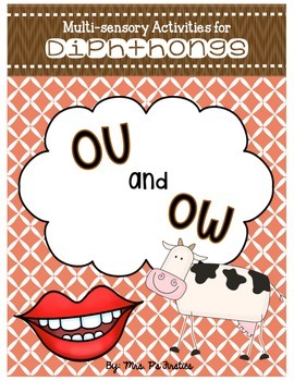 Multi-sensory Activities for Diphthongs - ou and ow
