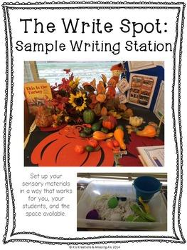 Multi-sensory Fall Writing Station: The Write Spot (Grades 3-5)