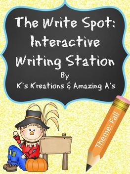 Multi-Sensory Fall Writing Station: The Write Spot (Grades 3-5) Booster