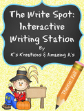 Multi-Sensory Fall Writing Station: The Write Spot (Grades
