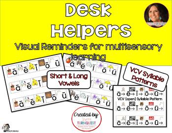 Long & Short Vowel & VCV Desk Helpers