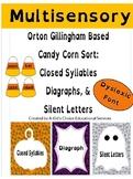 Multi-sensory, Orton Gillingham Candy Corn Sort