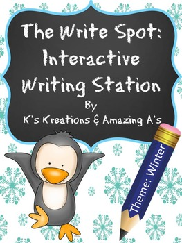 Multi-sensory Winter Writing Station: The Write Spot (Grades 3-5)