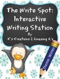 Multi-Sensory Winter Writing Station: The Write Spot (Grades 3-5) Booster