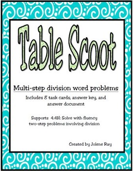 Multi-step Division Word Problems: New Math TEKS 4.4H & CCSS: 4.OA.A.2