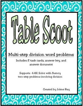Multi-step Division Word Problems: New Math TEKS 4.4H & CC
