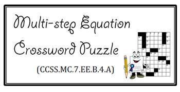 Multi-step Equation Crossword Puzzle