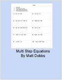 Multi-step Equation Practice