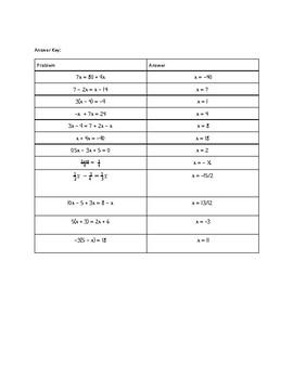 Multi-step Equation & Proportion Card-Sort Activity