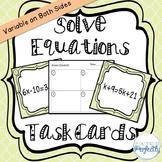 Multi-Step Equation Task Cards (TEK 8.8)