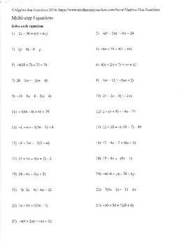 Equations Infinite Solutions, No Solution, and Integer Solutions Practice