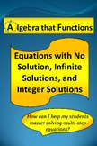 Equations Infinite Solutions, No Solution, and Integer Sol