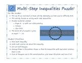 Multi-step Inequalities Puzzle