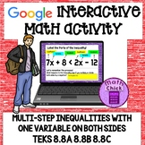 Inequalities with One Variable on Both Sides TEKS 8.8A 8.8