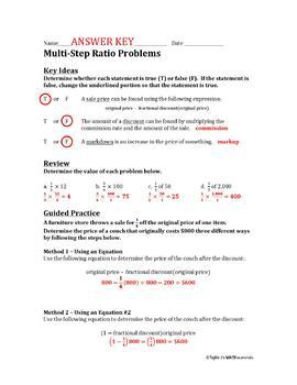 Multi-step Money Word Problems Worksheet