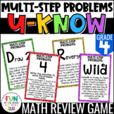 Multi-step Problems Game: U-Know | Review 4th Grade  {4.OA.3}